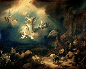Govert Flinck – Angels announcing Christ's birth to the shepherds (1639)
